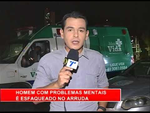 [RONDA GERAL] Homem com problemas mentais é esfaqueado no Arruda