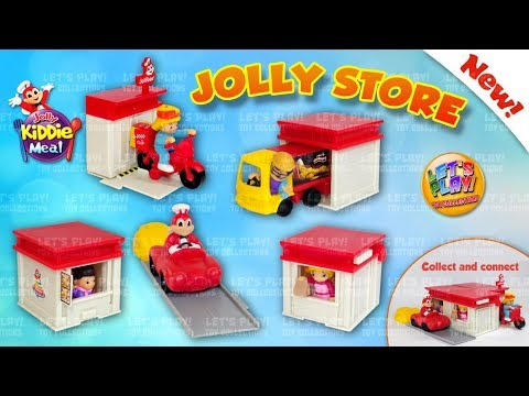 2018 Jollibee Jolly Store - Jolly Kiddie Meal Toys Complete Set of 5 Toys