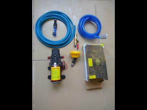 Máy bơm áp lực 12v - 100w sịt rửa mạnh