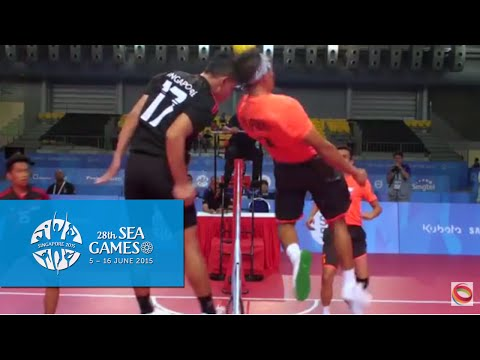 Sepaktakraw Men's Regu Philippines Vs Singapore (day 8) | 28th Sea Games Singapore 2015