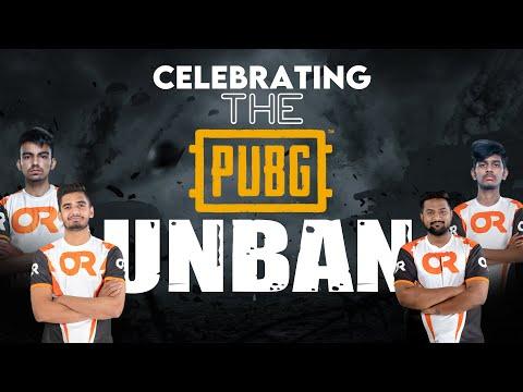 Celebrating the PUBG UNBAN I OR ESPORTS I PUBG Mobile