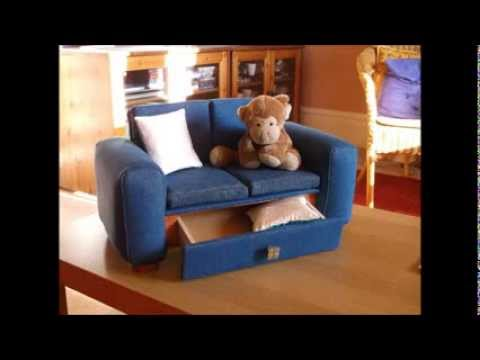 Denim Doll's Sofa - Handmade Doll's Furniture by Michael Stolze