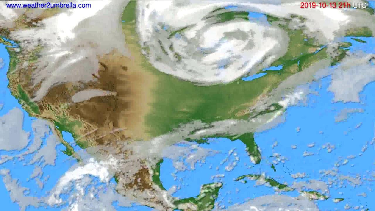 Cloud forecast USA & Canada // modelrun: 00h UTC 2019-10-12