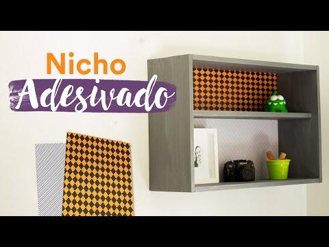 Nicho de Madeira Adesivado
