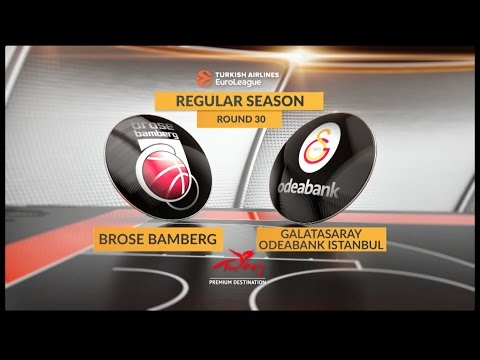 EuroLeague Highlights RS Round 30: Brose Bamberg 79-84 Galatasaray Odeabank Istanbul