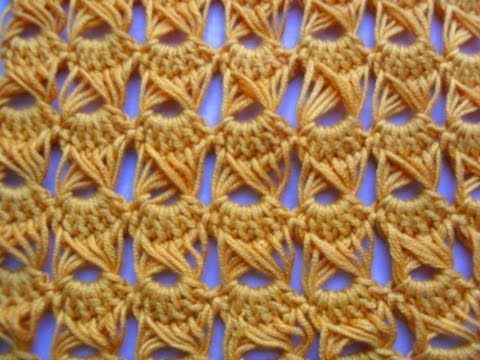 CROCHET TUTORIAL: HOW-TO MAKE THE PEACOCK EYE or BROOMSTICK LACE STITCH - PART ONE