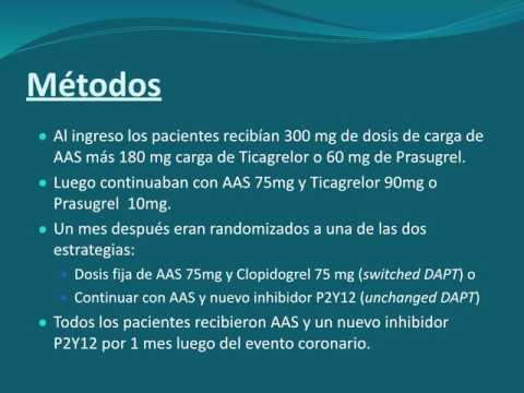 Beneficios del cambio de la doble antiagregación posterior a un SCA. Dra. María Laura Mori. Residencia de Cardiología. Hospital C. Argerich. Buenos Aires