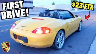 Video $500 SALVAGE Porsche First Drive! Cheap $23 Repair (Budget Boxster Ep.2) MP3, 3GP, MP4, WEBM, AVI, FLV Juli 2019