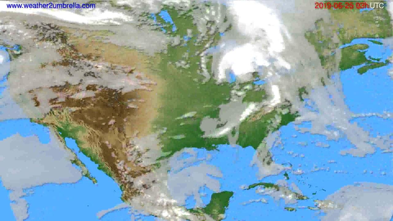 Cloud forecast USA & Canada // modelrun: 00h UTC 2019-06-22