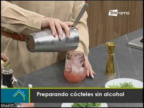 Preparación cócteles sin alcohol