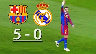 Video Barcelona vs Real Madrid  (5-0) MP3, 3GP, MP4, WEBM, AVI, FLV Maret 2018