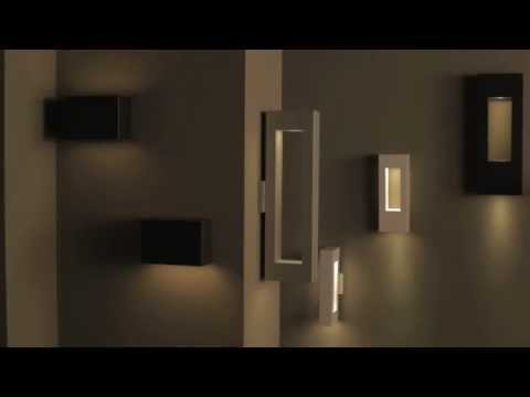 Video for Atlantis Satin Black Large Skinny Two-Light LED Outdoor Wall Light