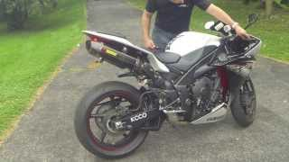 5. 2012 yamaha R1 Akrapovic exhaust