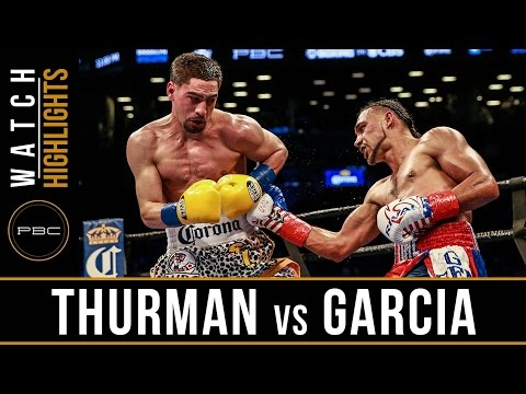 keith thurman vs danny garcia - highlights
