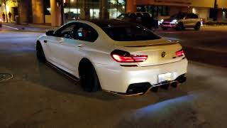 BMW M6 Gran Coupe LOUD rev / take off!! The hunt is on!