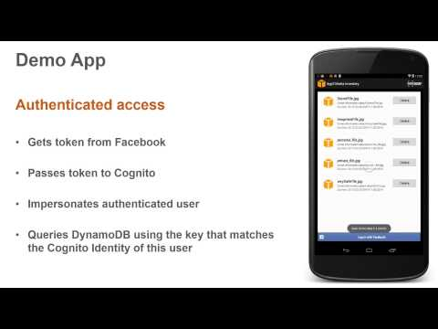 Delivering Mobile Apps Using AWS Mobile Services (видео)