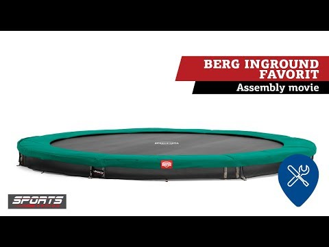 BERG Inground Favorit 380 | Montage trampoline