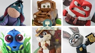 Amazing cakes compilation: Top 10 Disney cake toppers! Can you name each of the Disney characters featured in the video? Every cake figure shown in this video was made from cake supplies such as gumpaste. You could use the same methods using polymer clay. You can find each of the Disney toppers full length tutorial below :) Let me know which one is your favorite! Baby Dory tutorial - https://youtu.be/PD8LRc9IJcQInside out Anger - https://youtu.be/Nz2Dg3LrS2UMickey Mouse - https://youtu.be/zUfH4ZR4rY8Eeyore - https://youtu.be/Sz6nyPpPj7kJudy Hopps - https://youtu.be/IYXHvgZIyDYMater from Cars - https://youtu.be/x6TrEtvg1A8Chip and Dale - https://youtu.be/tzmmlPF07rgMonsters Inc Mike - https://youtu.be/3rtLKCatQ0UFinding Dory Hank - https://youtu.be/llHqaj5Jd5oJake and the Neverland Pirates - https://youtu.be/Ert2n85BQ6ESanto Rico by Twin Musicom is licensed under a Creative Commons Attribution license (https://creativecommons.org/licenses/by/4.0/)Artist: http://www.twinmusicom.org/To see more of my cakes and creations please visit my pages below-Facebook https://www.facebook.com/zoesfancycakes Twitter https://twitter.com/zoesfancycakesInstagram https://instagram.com/zoesfancycakes/Website http://www.zoesfancycakes.co.uk/You can also check out my online courses with 25% off below! :)Faces - https://www.udemy.com/how-to-make-sugar-craft-faces/?couponCode=YT25OFFRoses - https://www.udemy.com/how-to-make-sugar-craft-roses/?couponCode=YT25OFF