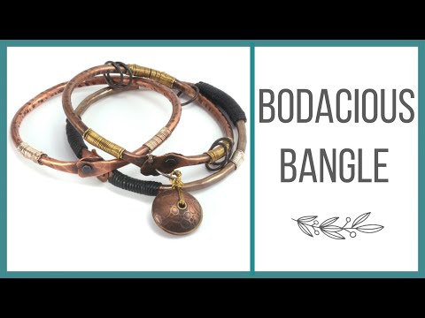 BODaciousX - This class from instructor, Kim St. Jean, is a student favorite. Kim makes shaping heavy-gauge metal a breeze and shows how to size, texture and rivet a boda...