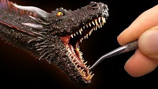 Video Sculpting Drogon from Game of Thrones MP3, 3GP, MP4, WEBM, AVI, FLV Mei 2019