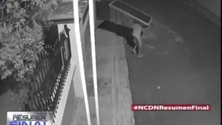 Cámara de seguridad capta a varios hombres robando paneles solares en SFM