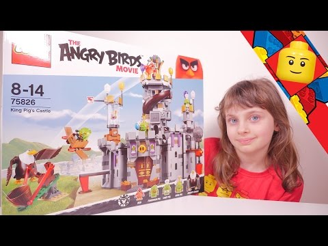 jouet neuf lego 75826 the angry birds movie king pig's castle
