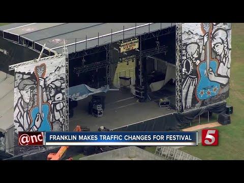 Franklin Traffic Changes For Pilgrimage Festival