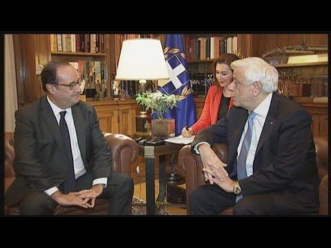 Συνάντηση του Προκόπη Παυλόπουλου με τον τέως Πρόεδρο της Γαλλικής Δημοκρατίας Φρανσουά Ολάντ
