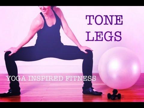 20 min YOGA INSPIRED FITNESS FOR LEAN LEGS & CALVES | workout #2