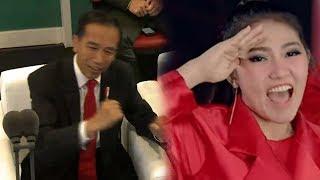 Jokowi Joget Dayung saat Via Vallen Nyanyikan The Song Asian Games Meraih Bintang