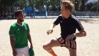 Conan O'Brien shows off soccer skills in pick-up game with Giovani Dos Santos