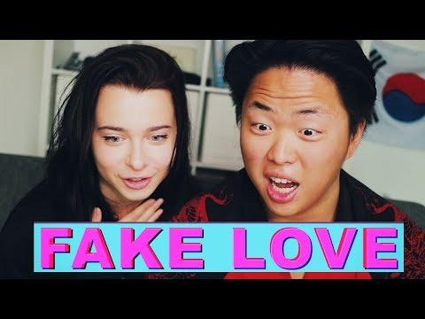 Реакция на K-POP [BTS - FAKE LOVE] (видео)