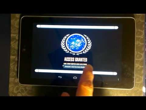 Video of LCARS Shipyard Tablet