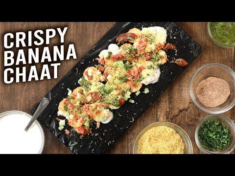 Crispy Banana Chaat | Jain Chaat Recipe | How To Make Kacche Kele Ki Chaat | Homemade Snacks | Ruchi