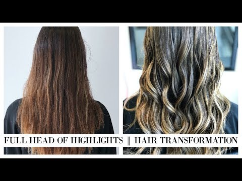 VLOG: COME TO THE HAIR SALON WITH ME  FULL HEAD OF HIGHLIGHTS