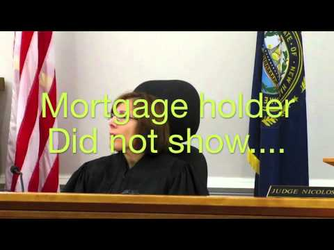 Nasty Mortgage Fraud Self Help remedy: Courtroom video in New Hampshire.