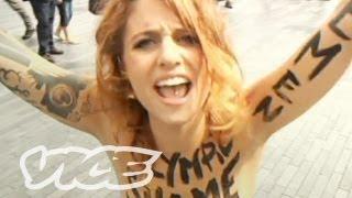 Topless Femen Protesters in Paris