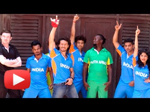 TIGER SHROFF CRICKET CHAMPION TROPHY PHOTOSHOOT