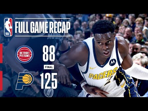 Video: Full Game Recap: Pistons VS Pacers | Sabonis And Collison Lead Indiana