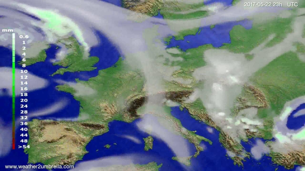 Precipitation forecast Europe 2017-05-19