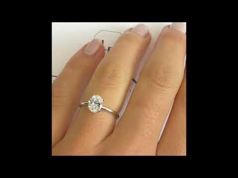 1 carat Oval Diamond Engagement Ring