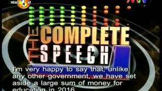 Complete Speech MTV 30th November 2015