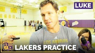 Luke Walton Talks New Winners Board Leaders, Jerry West's Visit by Lakers Nation
