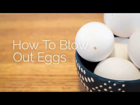 How To Blow Out Eggs - Keep your decorated eggs from going bad or smelling!