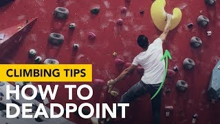 Bat hang start and a dead point climbing move explained how its done by  rockentry