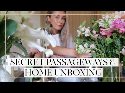SECRET PASSAGEWAYS + HOME UNBOXINGS // Moving Vlogs Episode 9 // Fashion Mu… видео