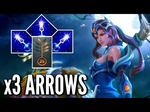 3 Arrows Build Mirana Solo Mid by Sumail Epic MMR 7.00 Meta Gameplay Dota 2
