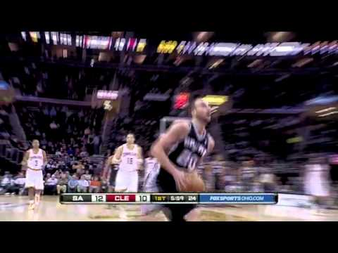 Awesome steal by Manu Ginobili vs. Cavaliers