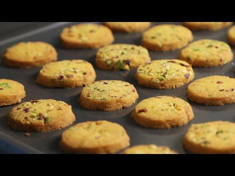 How To Make Cookies | Eggless Saffron Cookie Recipe | Divine Taste With Anushruti