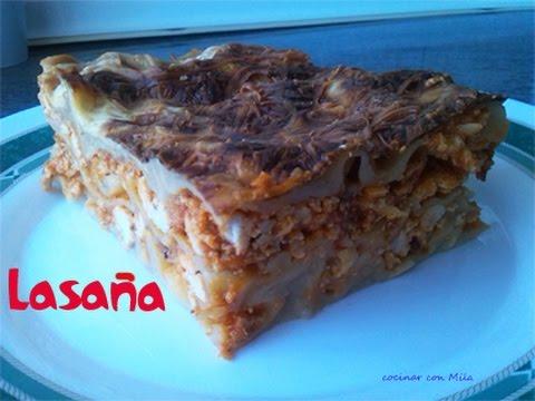 Como hacer lasaña (lasagna) recetas de cocina facil